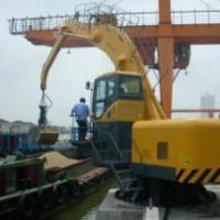供应码头固定式折叠臂卸船机抓料机