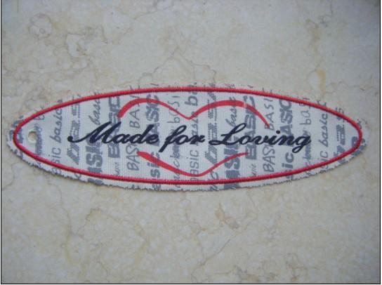供应绍兴丝印商标 棉布丝印商标定做 帆布丝印商标挂牌批发便宜的绍兴丝商标定做