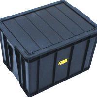 防静电带盖注塑箱 ,厂家直供低温不破防静电带盖注塑箱/注塑周转箱