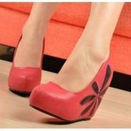 坡跟鞋欧美时尚2012春季新款厚底鞋图片