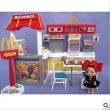 正版芭比娃娃家具 麦当劳屋 并送3个娃娃