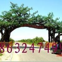 供应塑树门面 假树大门 假树大门价格