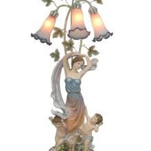 厂家批发新奇特欧式台灯玻璃灯罩天使树脂台灯客厅灯饰批发批发