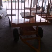 供应货物平板拖车 机场平板行李车 物流起重设备