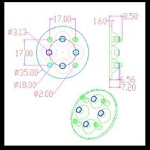 供应日亚透镜,35MM透镜,灯饰配件,中山头灯,COB灯具,广东透镜批发