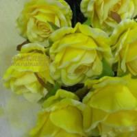 高档单枝玫瑰仿真花批发-绢花批发