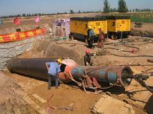 临兆县非开挖施工队,专业顶管长途管线铺设PE管销售热力管