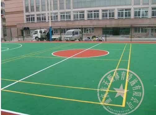 供应南川区塑胶网球场施工图片