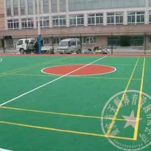 南川区塑胶网球场施工图片