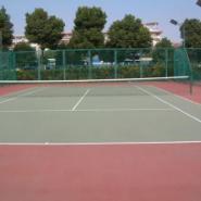长寿区硅PU羽毛球场图片