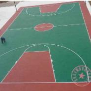 江津区塑胶羽毛球场施工图片
