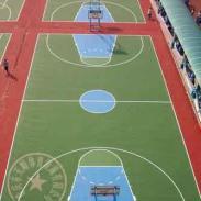 合川区标准塑胶篮球场报价图片