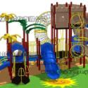 幼儿园木质绳网组合玩具图片