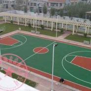 彭水县塑胶篮球场施工图片