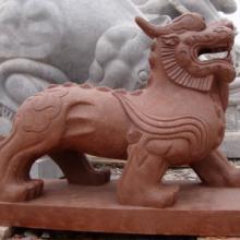 供应手工雕刻石雕貔貅天禄辟邪招财旺财貔貅独角石雕图片