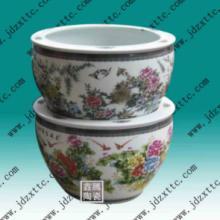 供应粉彩花鸟缸-礼品瓷器,商务馈赠陶瓷大缸批发