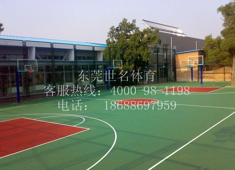 供应广州露天蓝羽球场面层图片