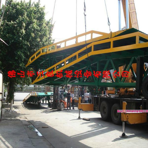 供应深圳支腿可升降两轮登车桥生产厂家