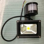 10WLED投光灯人体感应LED泛光灯图片