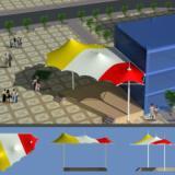 供应景观膜结构舞台