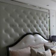 天河别墅软包背景墙图片