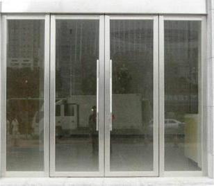 兰州不锈钢玻璃门图片