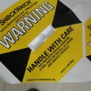 供应江苏25G黄色防震动标签Shockwatch,SHOCKWATCH批发商,标签生产厂家