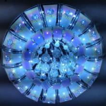 供应现代简约LED卧室圆形水晶灯 LED客厅吸顶灯灯餐厅灯饰批发 图片