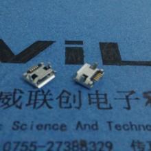 供应手机插座生产Micro5P插件式USB,DIP7.2脚距加长针+加长脚
