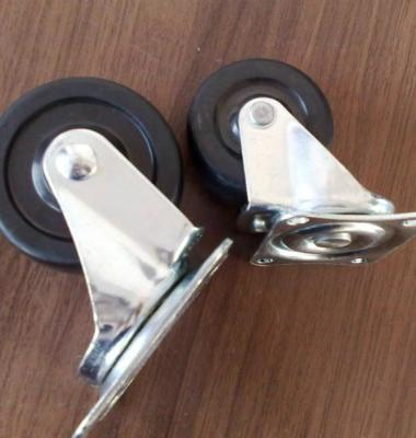 丝杆边刹白PP脚轮图片/丝杆边刹白PP脚轮样板图 (2)
