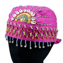 供应印度绣珠帽 民族帽子厂家货源 昆明民族风帽子批发