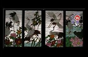 玄关玻璃屏风图片