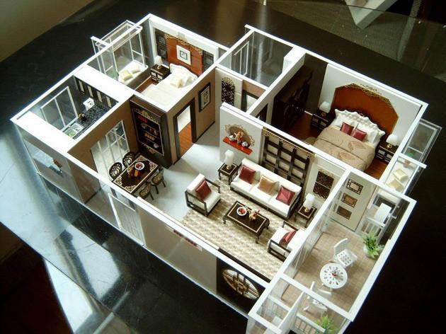 室内示范模型公司,珠海室内示范模型制作展示模型不仅要求表现建筑物图片