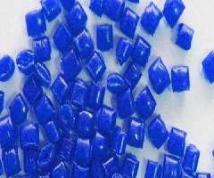 蓝色PE再生料波纹管专用料图片