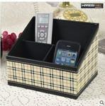 江苏皮具厂生产桌面皮质收纳盒图片