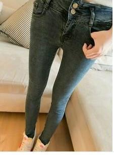 女士牛仔长裤小脚裤图片
