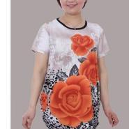 北京时尚加大码冰丝师奶T恤批发图片