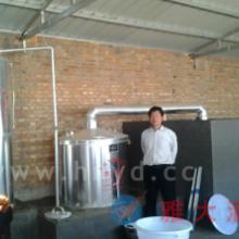 400斤铝材中型酒厂酿酒设备实图 怎样给白酒蒸酒设备消毒好