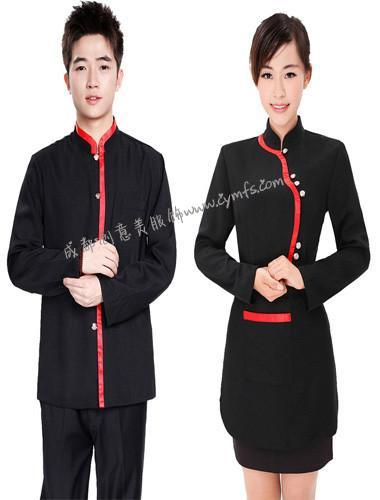 酒店服装定做_成都服务员服装定做