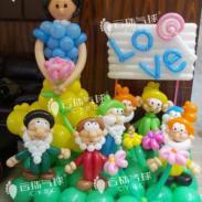 供应白雪公主系列气球/小矮人气球/梵·爱丽珠宝气球装饰/门店装饰