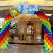 彩虹拱门/彩虹气球/气球拱门图片