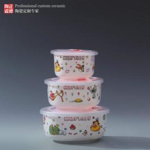 景德镇骨瓷保鲜碗图片