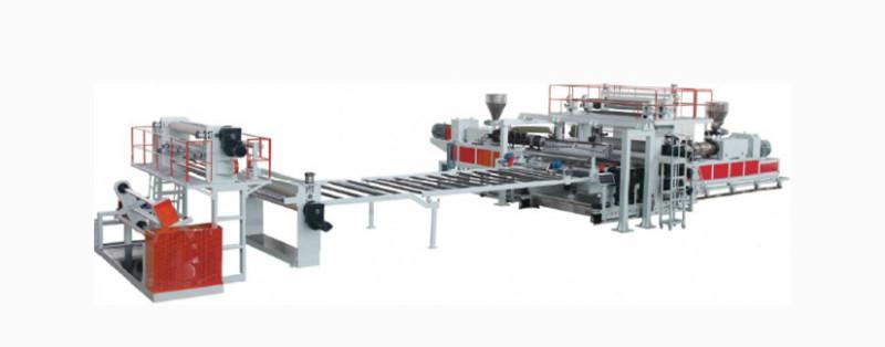 金韦尔机械PVC木塑门板生产线设备