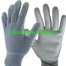 供应广州最便宜尼龙PU涂掌手套/防静电手套生产厂家/尼龙手套低价直销批发