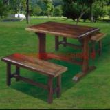 供应户外家具古典家具户外木制碳化家具--梧州沛迪园林