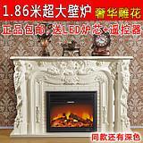 供应美式实木壁炉柜LED炉芯欧式电壁炉批发