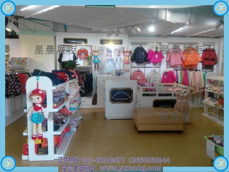 货商 供应儿童鞋店装修设计童鞋展柜图XC321高密度板广州星晨展柜高清图片