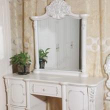 供应欧式梳妆台 法式妆台 实木妆台 象牙白烤漆  化妆桌