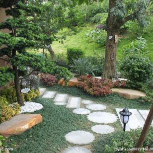 上海别墅花园绿化设计图片
