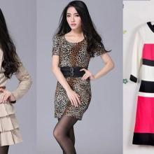 供应2013年新款外单秋装连衣裙日韩女装欧美风格时装拿货